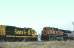 BNSF 1045 West meets ATSF 6355 East