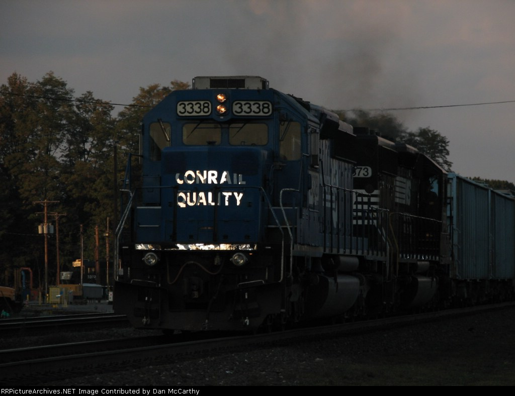 A Conrail SD40-2 Helps Out Those ES40DC's