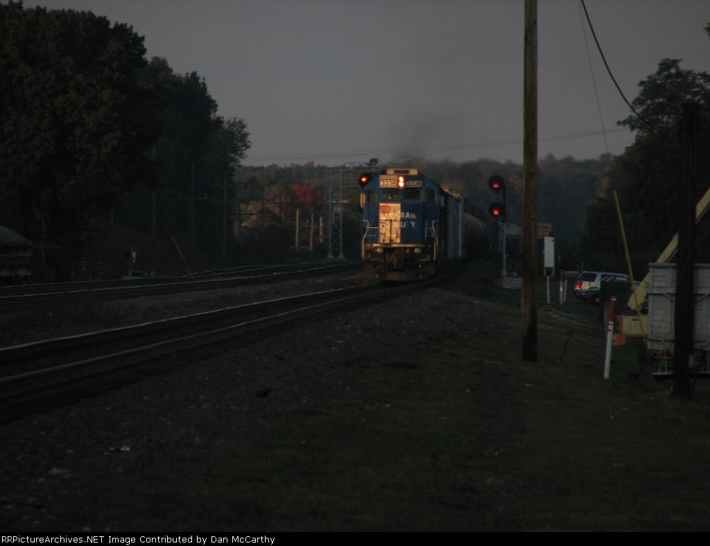 Evening Sets On The Old Conrail SD40-2