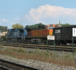 An BNSF Dash 9 In Trail