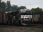 A Westbound Autorack Lead By Freshly Painted ES40DC's