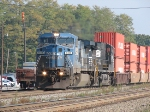 A Beautiful Conrail Dash8-40CW Leads a Westbound Double Stack