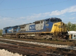 CSX 7737 & 7302 resting at the west end after bringing Q335 in