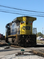 CSX 7385 rolling along with its' marker lights on