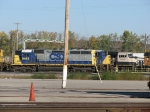 Recently renumbered CSX 4524 hides between 8483 & BNSF 9765