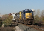 CSX 8094 & 8089 rolling over the Broadmoor Ave bridge as they head east with Q326-30