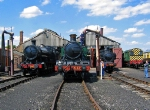 Engine lineup at the railway center