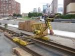 080613048 Temporary rail-welding job-site on 6th Ave No. for Hiawatha Light Rail extension onto 5th Street bridge