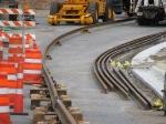 080613050 Temporary rail-welding job-site on 6th Ave No. for Hiawatha Light Rail extension onto 5th Street bridge