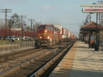 BNSF 120 and 137 on a Stack Train