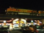 BNSF 5459 passing by the President Casino.