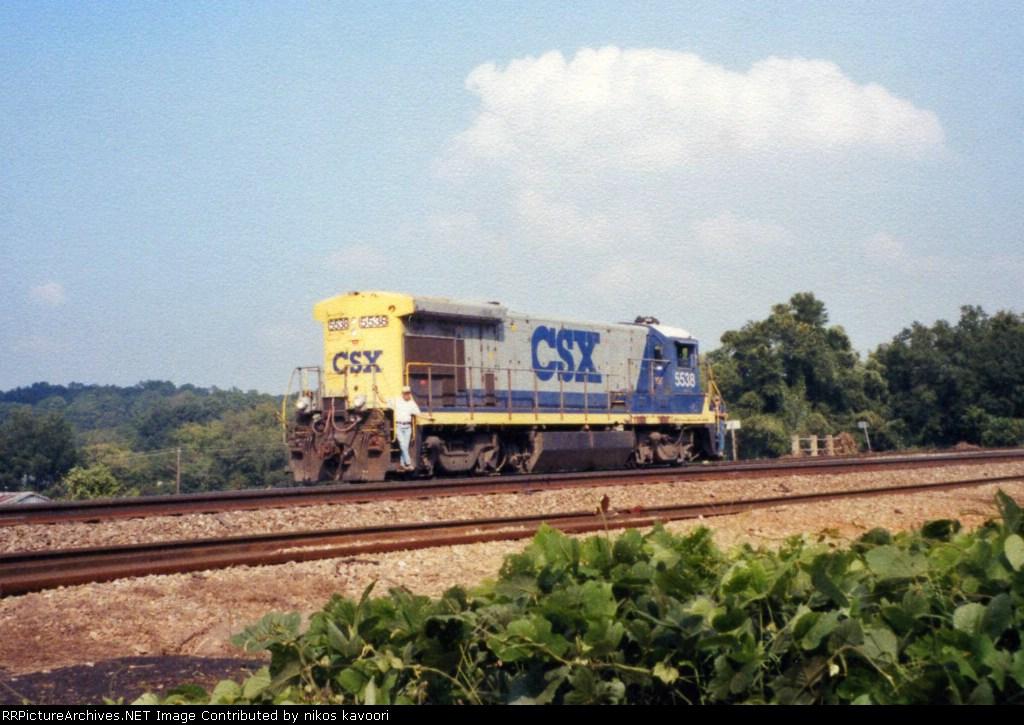 CSX 5538 tying up at Pulaski Street