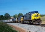 CSX 454 and consist southbound through Rydal, GA
