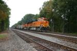 BNSF 6081 and a Michigan coal train