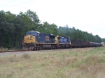 CSX 5353,CSX 7917, Southbound,Mixed load