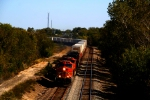 BNSF C44-9Ws 4617 and 5118 lead two sister GEs with a westbound.