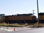 UP 9813 #3 power in a WB doublestack at 11:20am