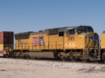 UP 5019 #3 power in an EB doublestack towards El Paso at 1:18pm