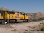 UP 5195 leads an EB doublestack towards El Paso at 1:18pm