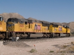 UP 3825 #2 power in an EB doublestack towards El Paso at 1:18pm