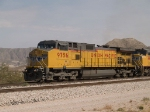 UP 9756 leads a WB doublestack at 12:47pm