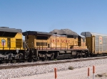 UP 9283 #2 power in a WB autorack at 12:19pm
