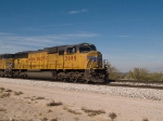 UP 3989 leads an EB doublestack at 12:35pm