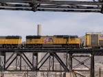 UP 4899 #5 power in a WB manifest at 12:01pm