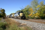 CSX 8049 passing what is left of the fall colors