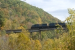 south bound at copper creek trestle at the new overlook