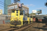 LI 166 heads up today's ballast train