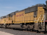 UP 4025#2 power in an EB doublestack KCIAT (City of Industry CA - Atlanta) at 12:22pm