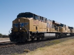 UP 5475 leads a WB doublestack at 11:38am