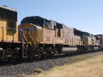 UP 5019 #3 power in a WB doublestack at 11:38am