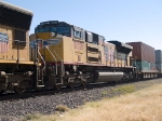 UP 8321 #4 power in a WB doublestack at 11:38am