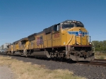 UP 4936 leads an EB doublestack at 12:16pm