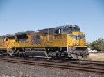 UP 8575 leads an EB manifest MTUFW (Tucson-Ft Worth) at 11:58am out of Alfalfa yard