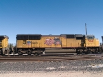 UP 5041 #4 power in a WB manifest into Alfalfa yard at 12:25pm