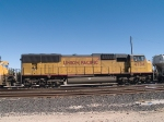 UP 4734 #5 power in a WB manifest into Alfalfa yard at 12:25pm