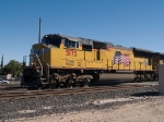 UP 5175 leads a WB doublestack at 12:44pm