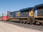 CSX 5422 #3 power in an EB doublestack at 1:45pm