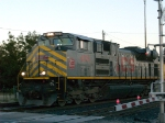 KCS 4019 leads a WB autorack (with one grain car) at 6:16pm