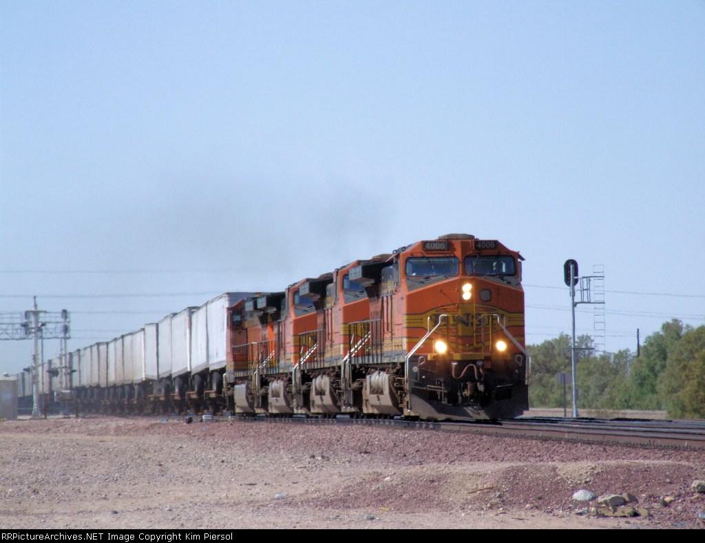 Quartet of BNSF C44-9Ws
