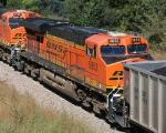 BNSF 5853 DPU for a SB coal train