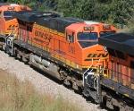 BNSF 5792 part of a DPU set on a SB coal train