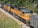 Mid train helper set on SB coal train