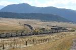 NB freight meet SB coal train