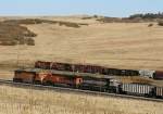 NB freight races by the DPUs of a SB coal
