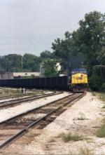CSX 7748 leading a coal train into the yard