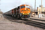 BNSF 7582 ES44DC leads a grain train destined for Washington